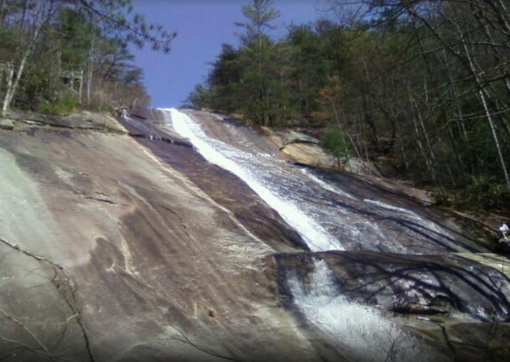 Stone Mountain waterfall